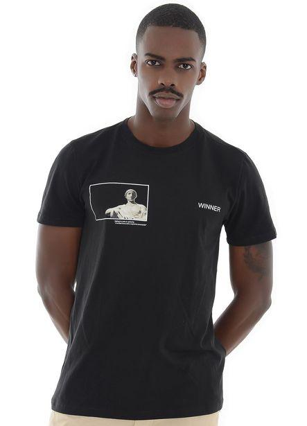 Oferta de Camisa Negra Estampada Winner por $50000