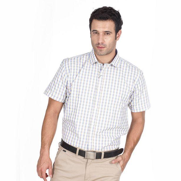 Oferta de Camisa Manga Corta Diseño Cuadros por $49900