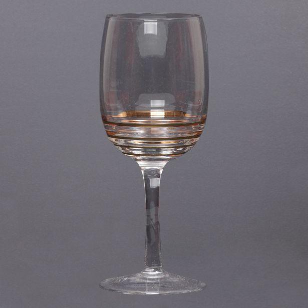 Oferta de Set De 4 Copas Para Vino Con Lineas Doradas por $59900