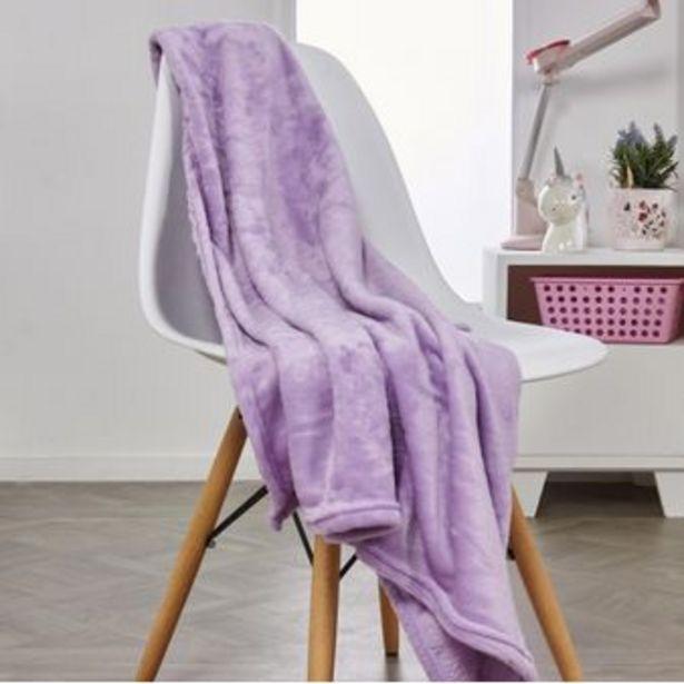 Oferta de Manta flannel unicolor violeta por $29900