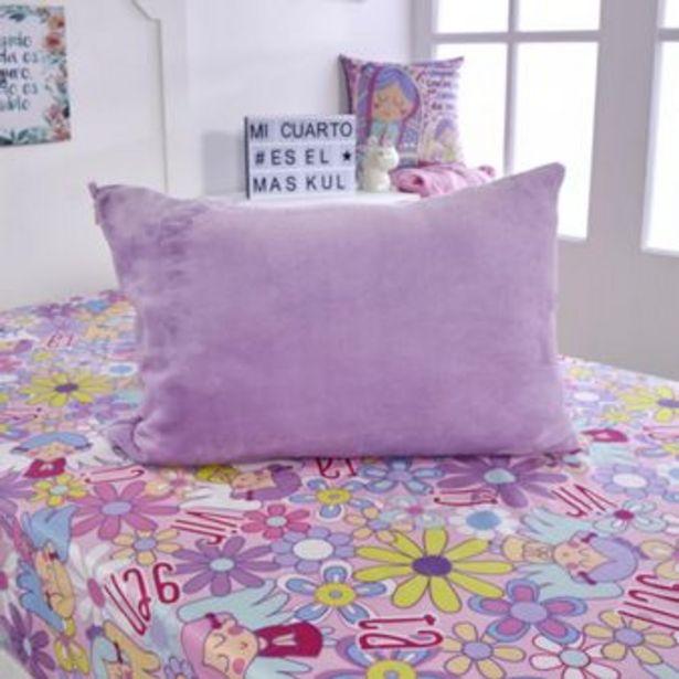 Oferta de Almohada + funda microfibra unicolor violeta por $29900