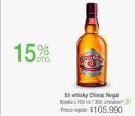 Oferta de En whisky Chivas Regal por