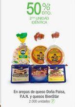 Oferta de En arepas de queso Doña Paisa, P.A.N. y quesos BienStar por