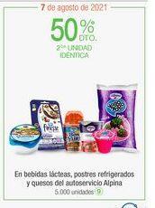 Oferta de En bebidas lácteas, postres refrigerados y quesos del autoservicio Alpina por