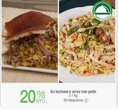 Oferta de En lechona y arroz con pollo x 1 Kg por