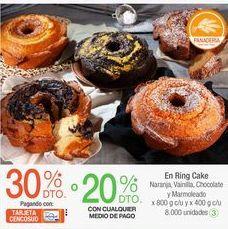 Oferta de En Ring Cake Naranja, Vainilla, Chocolate y Marmoleado x 800 g c/u y x 400 g c/u por