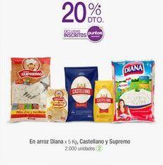 Oferta de En arroz Diana x 5 Kg, Castellano y Supremo por