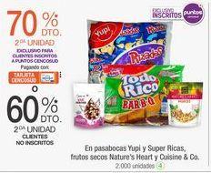 Oferta de En pasabocas Yupi y Super Ricas, frutos secos Nature's Heart y Cuisine & Co.  por