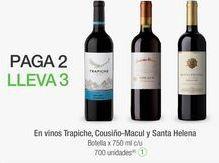 Oferta de En vinos Trapiche, Cousiño-Macul y Santa Helena por