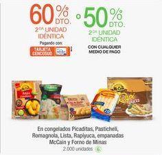 Oferta de En congelados Picaditas, Pasticheli, Romagnola, Lista, Rapiyuca, empanadas McCain y Forno de Minas por