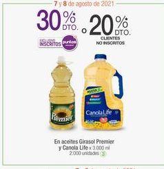 Oferta de En aceites Girasol Premier y Canola Life por