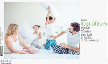 Oferta de Pijamas 2 piezas para toda la familia por $39900
