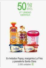 Oferta de En helados Popsy, margarina La Fina y panadería Santa Clara por