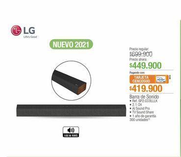 Oferta de Barra de sonido LG por $449900