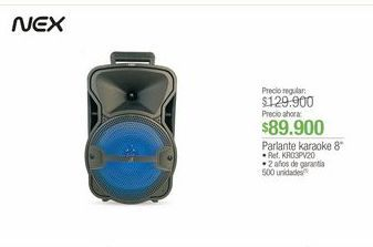 "Oferta de Parlante Karaoke 8"" Nex por $89900"