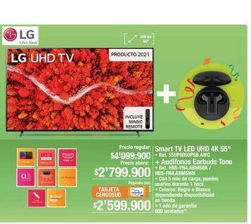 "Oferta de Smart tv Led UHD 4k 55"" por $2799900"