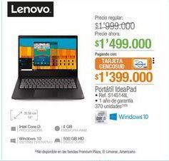 Oferta de Portatil IdeaPad por $1499000