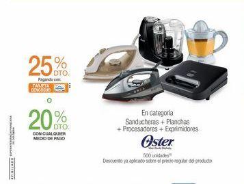 Oferta de Sanducheras + Planchas + Procesadoras + Expridores  por