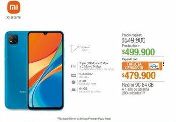 Oferta de Redmi 9C 64 GB  por $499900