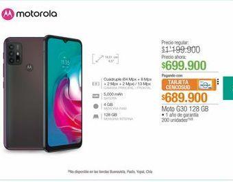 Oferta de Moto G30 128 Gb  por $699900