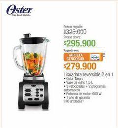 Oferta de Licuadora reversible 2 en 1  Oster por $295900