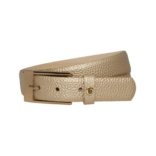 Oferta de Cinturón color oro blanco en cuero folia por $65900