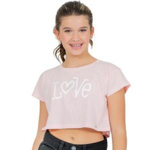 Oferta de Love Cropped T-Shirt por $19,99