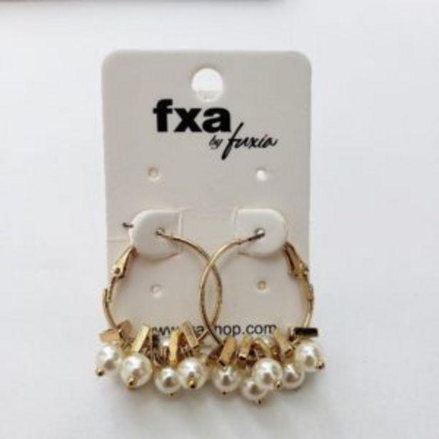 Oferta de Aretes mediano aro con perlitas por $23950