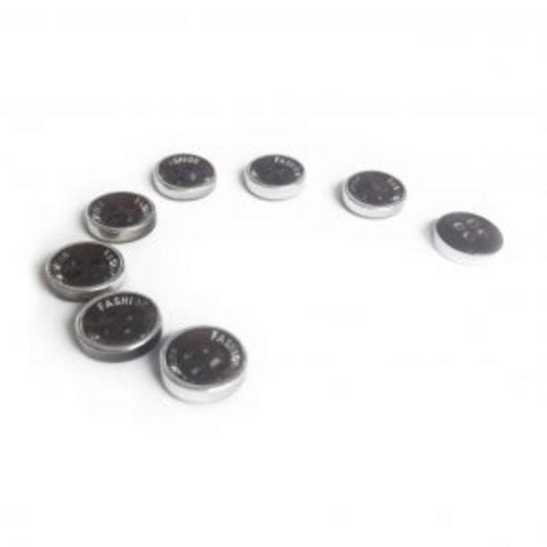Oferta de Botón Pasta Aro Metal 18L por $200