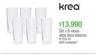 Oferta de Vasos Krea por $13990
