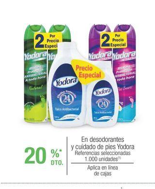 Oferta de Desodorante spray Yodora por