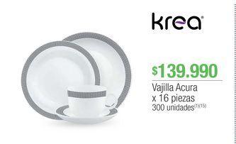 Oferta de Vajilla Krea por $139990