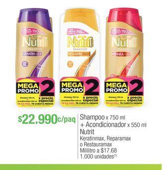 Oferta de Shampoo Nutrit por $22990
