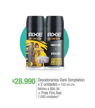 Oferta de Desodorante Axe por $28990