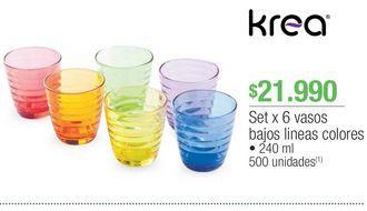 Oferta de Vasos Krea por $21990
