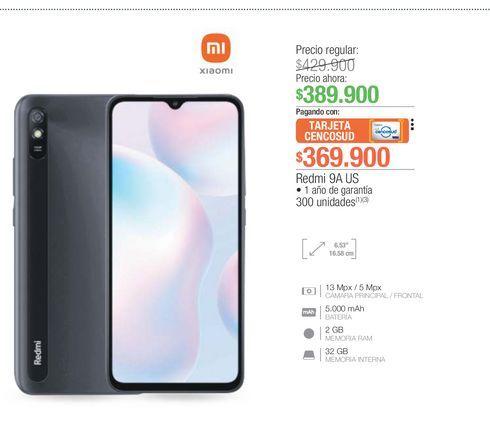 Oferta de Celulares Xiaomi 9A US por $369900