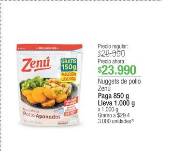 Oferta de Nuggets de pollo Zenú por $23990