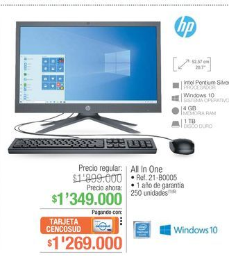 Oferta de Computador de mesa HP por $1269000