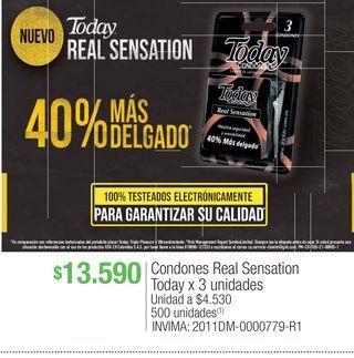 Oferta de Condones real sensation today por $13590