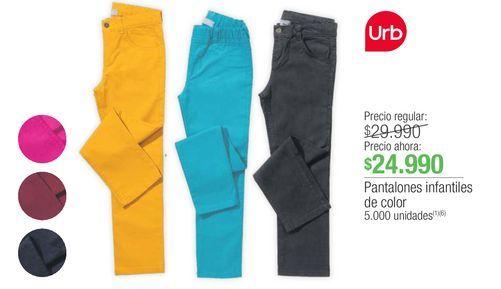 Oferta de Pantalones niño Urb por $24990