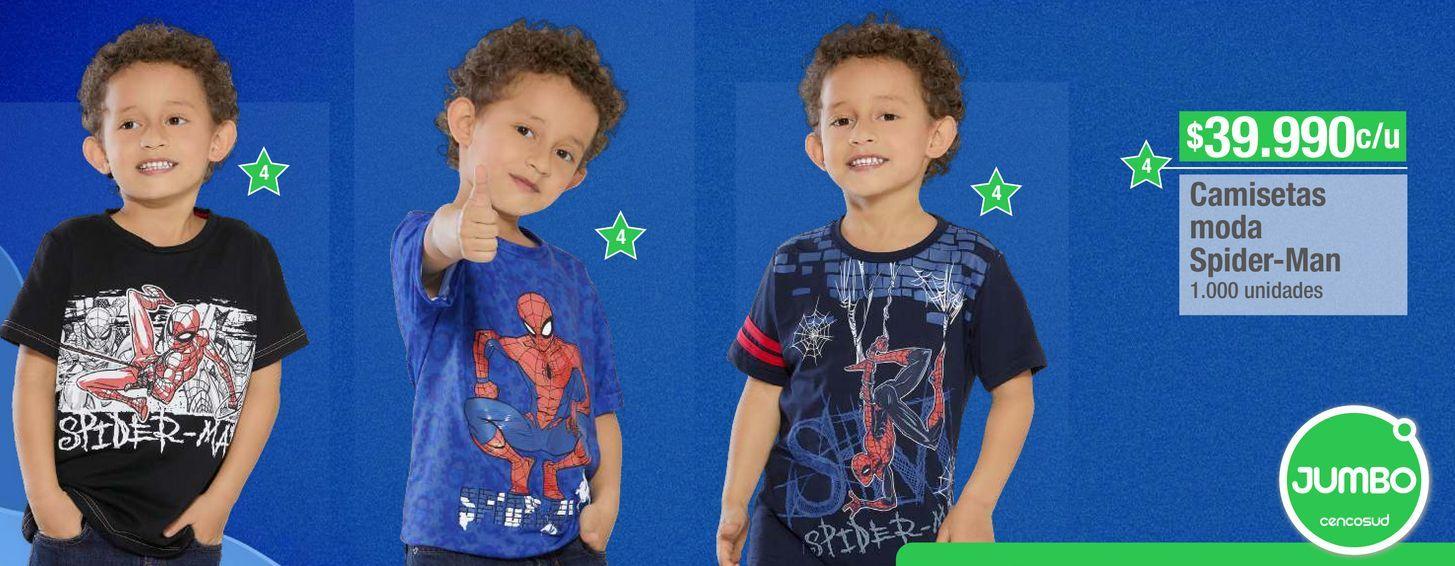 Oferta de Camiseta Spiderman por $39990