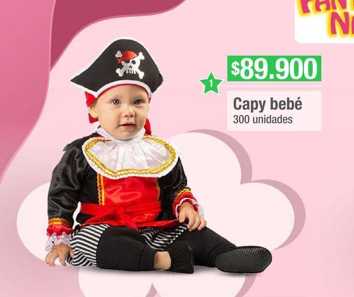 Oferta de Disfraces para bebé Capy Bebé por $89900