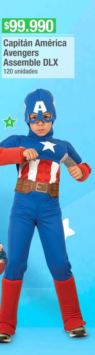 Oferta de Disfraces Marvel Capitan America  por $99990