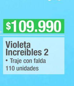 Oferta de Disfraces Disney violeta Increibles 2 por $109990