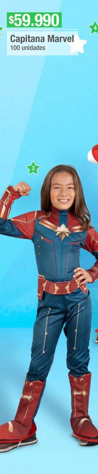 Oferta de Disfraces Marvel Capitana America por $59990