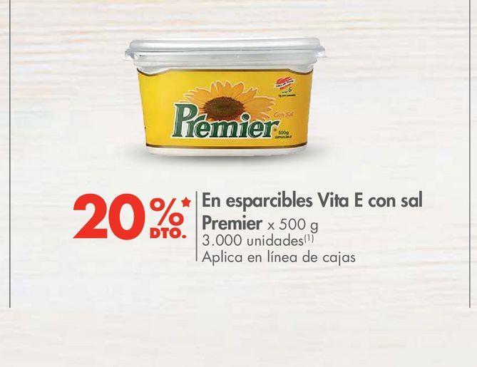 Oferta de En esparcibles Vita E con sal Premier x 500 g -20% por