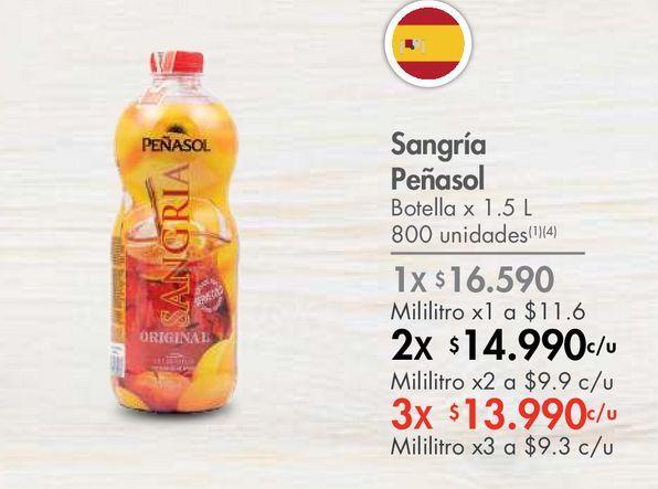 Oferta de Sangría Peñasol Botella x 1.5 L por $16590
