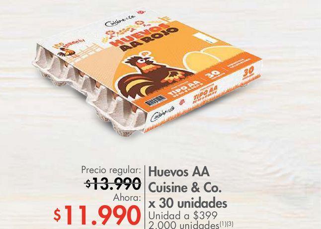 Oferta de Huevos AA Cuisine & Co. x 30 unidades por $11990
