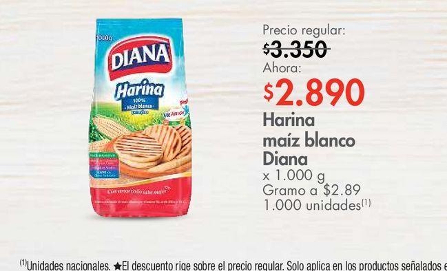 Oferta de Harina maíz blanco Diana x 1.000 g por $2890