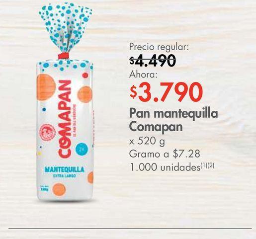 Oferta de Pan mantequilla Comapan x 520 g por $3790